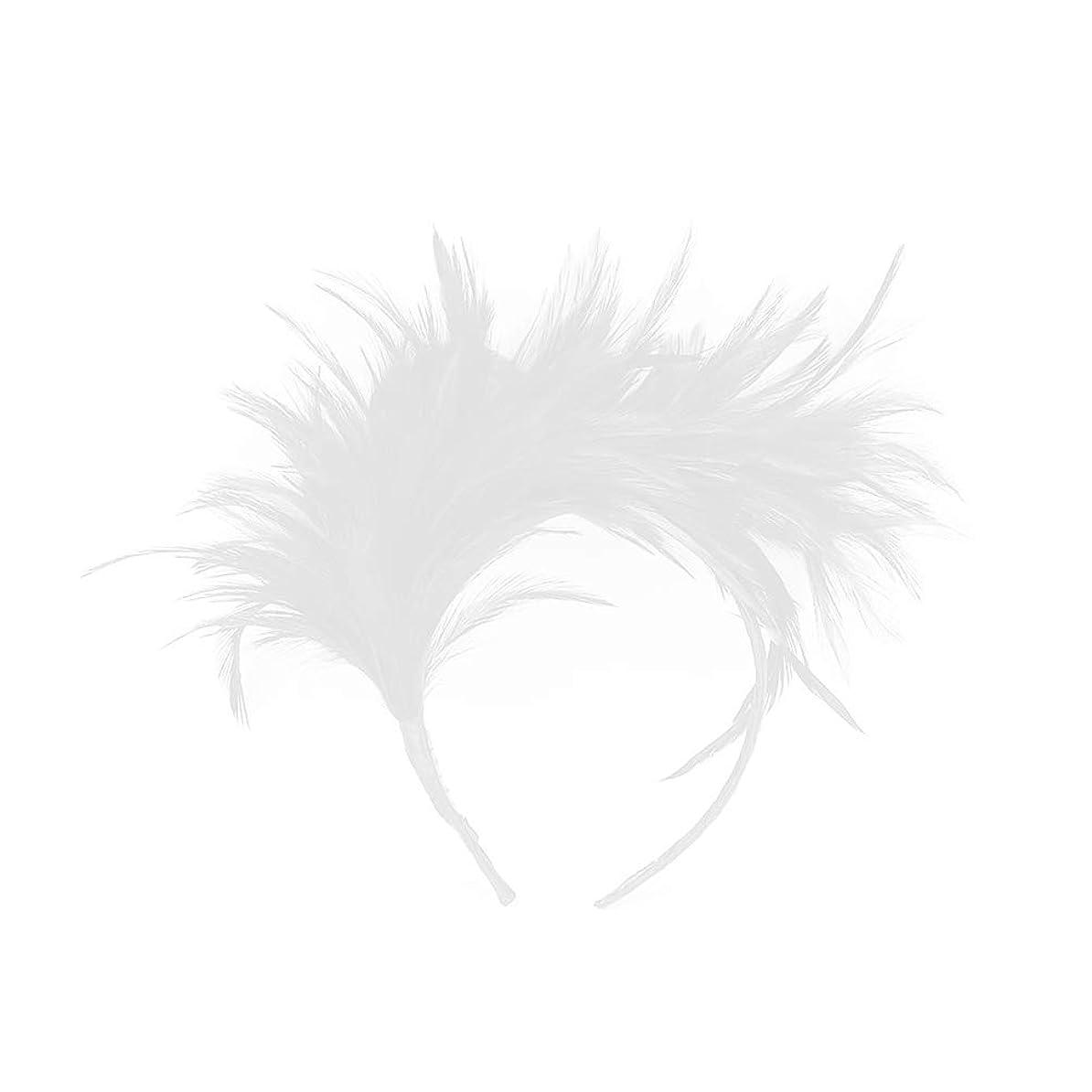 経営者小包野球Lurrose カチューシャ 羽 ヘアアクセサリー 結婚式 写真撮影 演奏会 コンサートウェディング コスプレ パーティー プレゼント 髪飾り (白)
