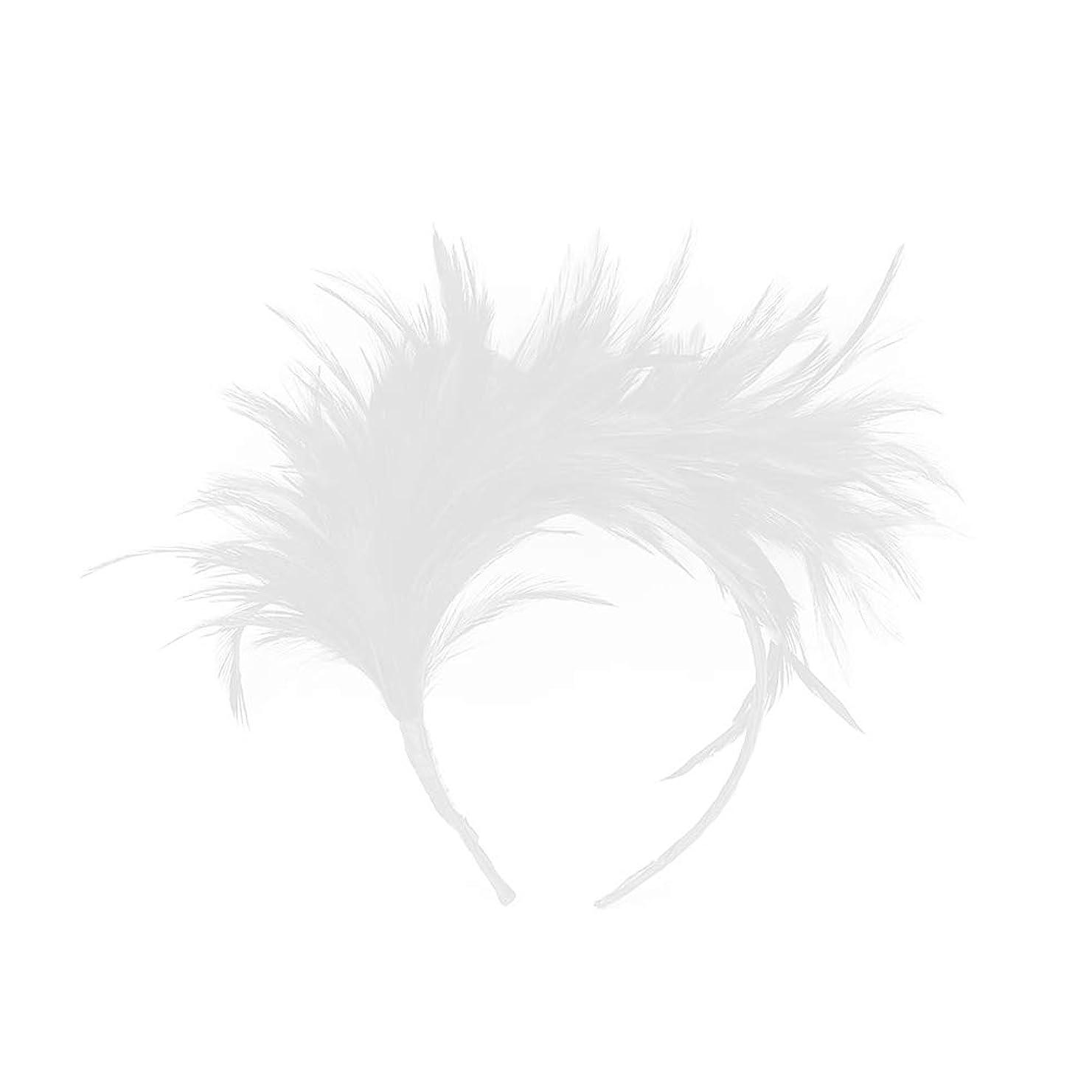 魅力的巧みなセラーLurrose カチューシャ 羽 ヘアアクセサリー 結婚式 写真撮影 演奏会 コンサートウェディング コスプレ パーティー プレゼント 髪飾り (白)