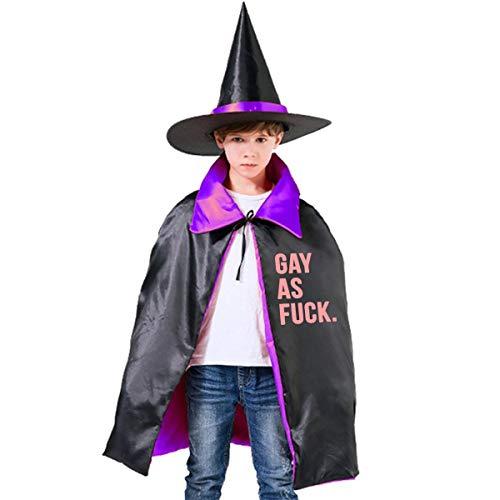 NUJSHF Gay AS Fick – Lustige Meme Rights-Kinder-Kapuzenumhang, Halloween-Party-Dekoration, Rolle, Cosplay-Kostüme, Outwear