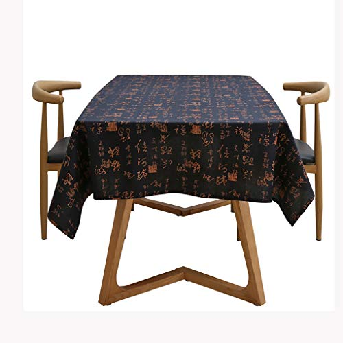 GXYmantel Table Cloth Rectangle Table Cotton Linen Washable Stain Resistant Fade Resistant Easy Care Vintage and Elegant Great For ReusableOutdoor IndoorKitchen & Dining Buffet Dining Room Tables