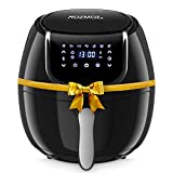 ROZMOZ Air Fryer, 7-in-1 Electric Air Fryers Oven with Automatic Shutoff & Overheat Protection, 1400W Oil-less Air FryersNonstick Basket, LED Touchscreen, 4.2QT, Black