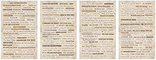 Clippings Stickers by Tim Holtz Idea-ology, 0.33 Inches Tall, 295 Word Stickers on Four Sheets (TH93583)