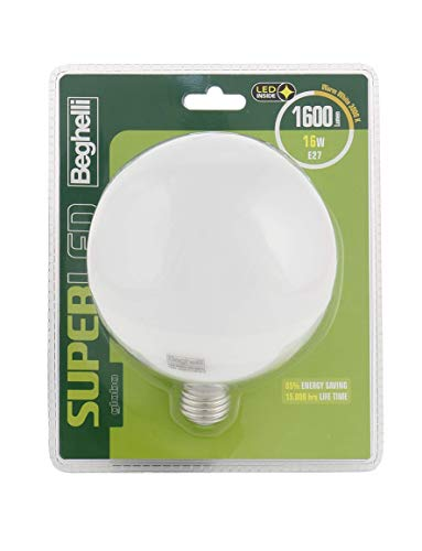Beghelli Superled Globo Lampadina LED, 3000°K, Luce Bianca Calda