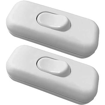 Ficelle Interrupteur Lampes commutateur plat blanc-noir-doré entre Interrupteur