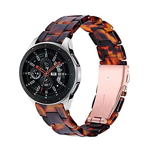 LXFFCOK Correa de Resina 20 mm 22 mm para Samsung Galaxy Watch Active 2 40mm 44mm Reloj de Reloj de Reloj S3 Pulsera de reemplazo de Banda para Huawei GT2 E