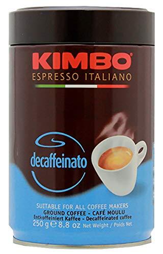 Kimbo Kaffee Espresso Decaffeinato Koffeinfrei gemahlen, 250g Doses