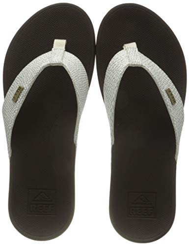 Reef Women's Sandals Ortho-Spring | Arch Support Flip Flops for Women,BROWN/WHITE,10 M US