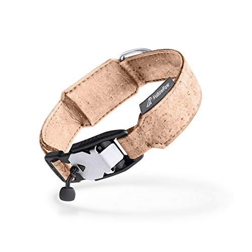 FollowPaw Collar para perro de corcho (XL 52-59 cm, natural)