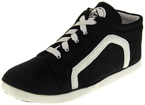 Dunlop Zapatillas de Estar por Casa Hombre Unisex Adulto Botas Calzado Negro EU 44-45 (L)