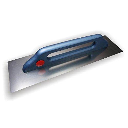 DEWEPRO® Schweizer Glättekelle - Glättkelle - Aufziehplatte - Aufziehglätte - Traufel - Edelstahl 480x130mm