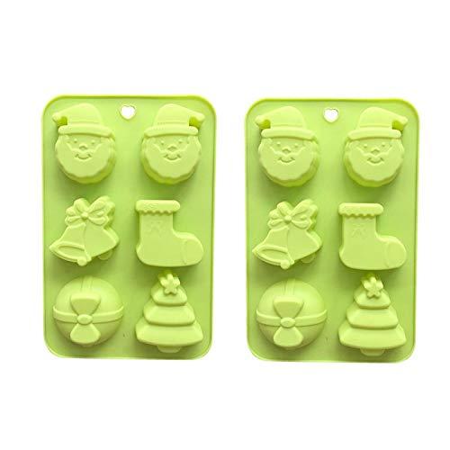 Moldes de silicona para chocolate, diseño de pudín de gelatina de chocolate, forma redonda, sin bisfenol A
