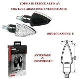 Compatible con MONTESA COTA REPSOL 250 PAR DE Indicadores LED APROBADOS para Indicadores DE DIRECCIÓN DE Motocicleta 12V Universal 63CM X 25CM LÁMPARA Span 6,5CM
