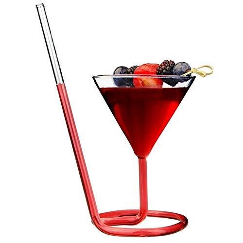YUNGYE Creativo Vite Spirale Paglia Molecolare Cocktail Glass Bar Party Bicchiere da Vino Martini Bicchiere da Champagne Fascino for Bicchiere di Vino