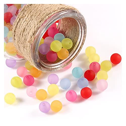 BOSAIYA EA01 300 unids/Lote 6 mm Colores Multi acrílico Perlas Redondas para Bricolaje Pulseras y Collares Joyería Accesorios Tl427 (Color : Matte, Item Diameter : 6mm 300pc Beads)