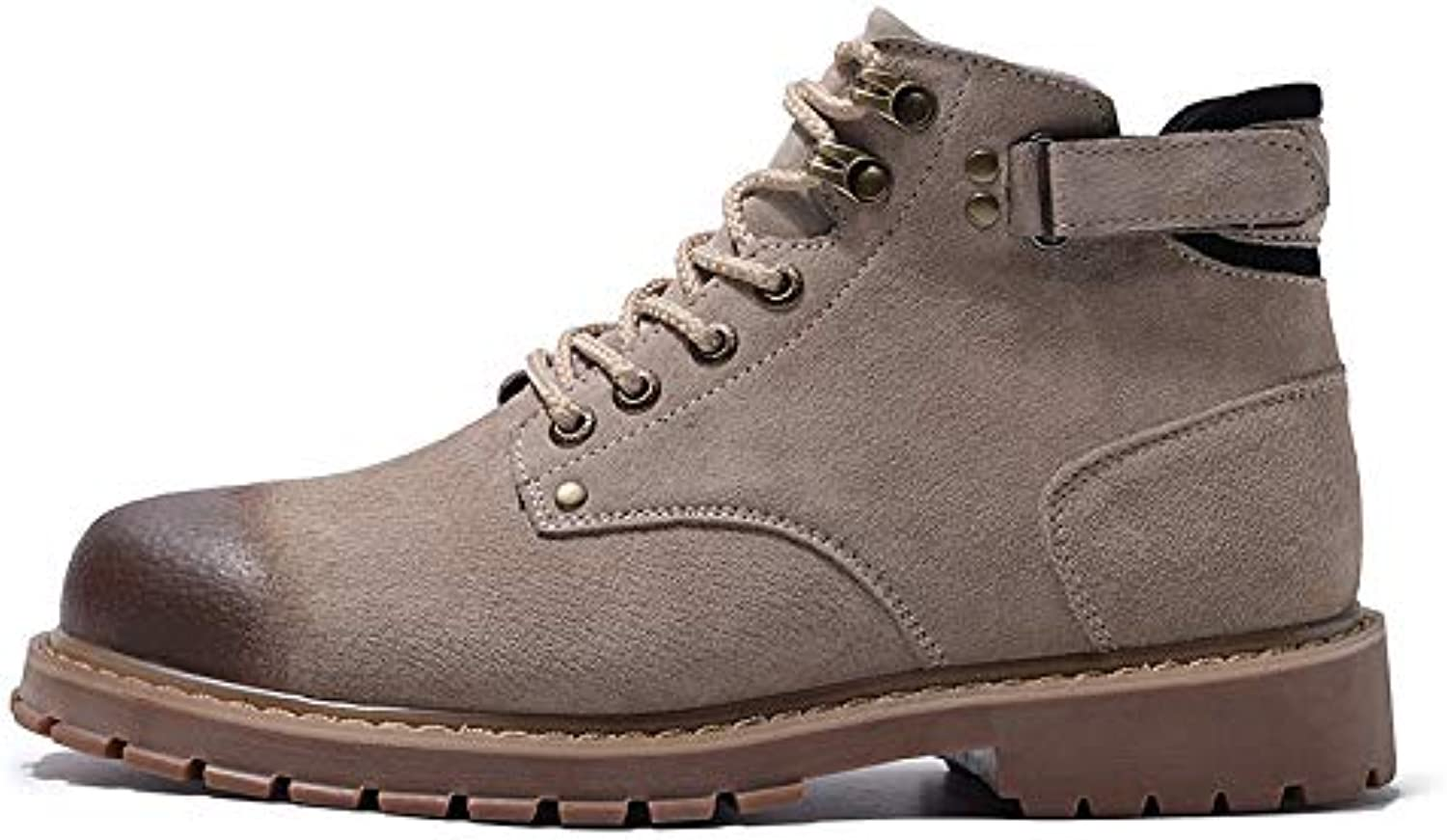 LOVDRAM Boots Men's New Winter Men'S Boots Casual Wild Fashion Thick Warm Warm And Comfortable Desert Tooling Boots High Help Martin Boots Men