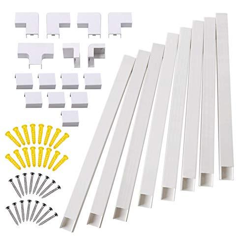 Bespick - Kit de corrector de cable de pared para ocultar y ordenar cables, cables o cables, organiza cables a televisores y ordenadores en casa o en la oficina