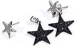 Star Earrings Drop Dangle Earrings Anchilly Eardrops studs Crystal Pave Piercing Earrings
