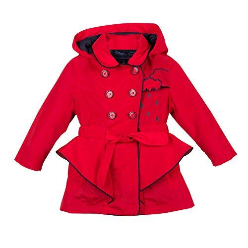 Catimini Mädchen Manteau 3 En 1 Pour Mantel, Rot (Vermilion 36), 8 Jahre (Herstellergröße: 8A)