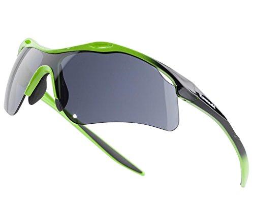 Kawasaki Racing Sonnenbrille Sport schwarzlime grün