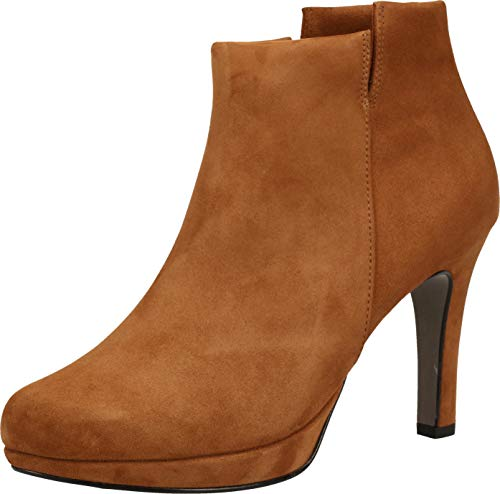 Paul Green Damen Super Soft Stiefelette, Frauen Ankle Boots, Lady Ladies feminin elegant Women's Women Woman Freizeit leger,Braun,5.5 UK / 38.5 EU