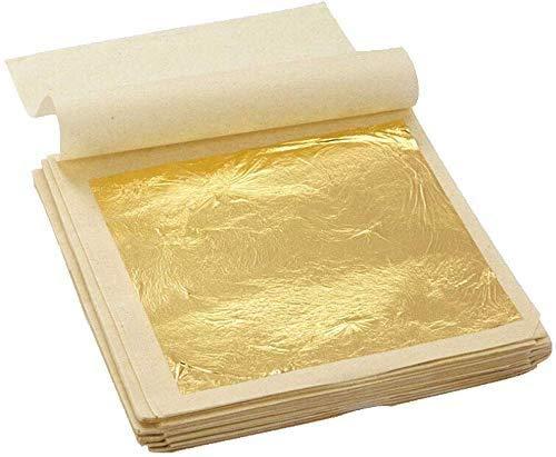 Edible Genuine Gold Leaf Flakes, 10pcs 24K Gold Flakes Decorative Dishes,Genuine Gold Leaf for Cooking, Cakes & Chocolates, Decoration, Health & Spa