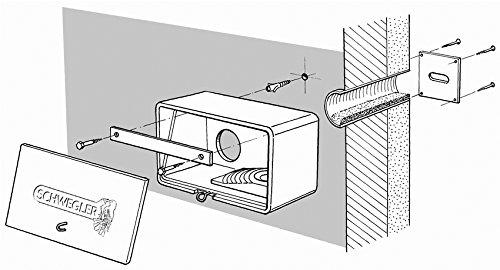 Schwegler Naturschutzprodukt Mauersegler-Beobachtungskasten Nr. 14 mit Grundkasten, Laufrohr, Nistmulde - Nistkasten - Nisthöhle