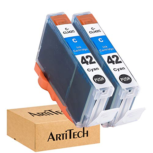 ArtiTech CLI-42 C Pixma Pro-100 Compatible Ink Cartridges Replacement for Canon CLI42 CLI-42 Cyan Ink Cartridge Work for Pixma Pro-100S Printers,2 Pack CLI-42 C