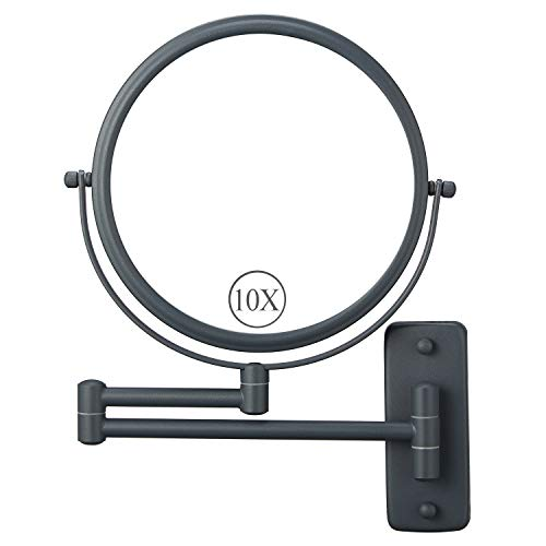 DECLUTTR Wall Mounted Makeup Mirror with 10X Magnification, 8 Inch Double Sided -