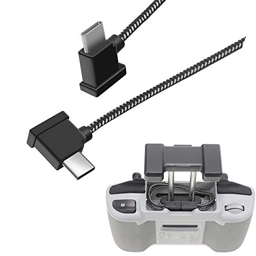 Hanatora Cable OTG USB-C para DJI Mavic Air 2, conector de datos de tipo C, de nailon de 11,8 pulgadas