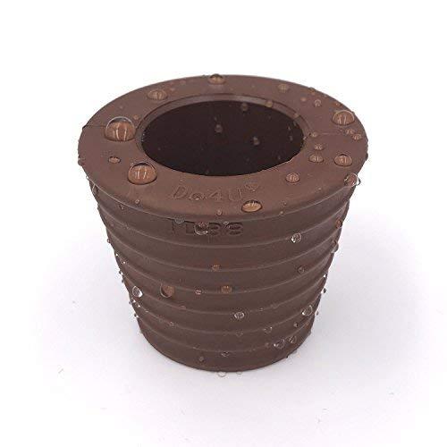 Do4U - Cono para soporte de sombrilla. Cuña para enganchar sombrillas en soportes, bases y mesas de patio con orificio, marrón