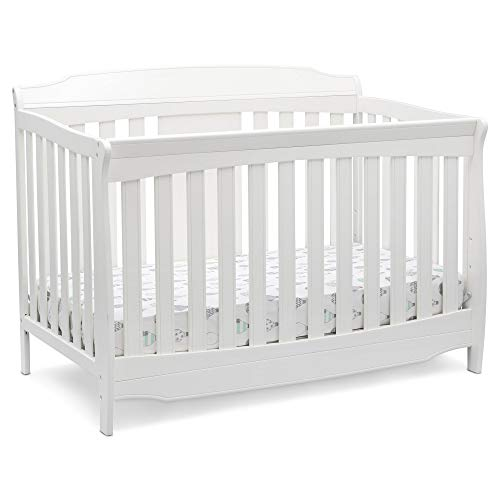 Delta Children Westminster 6-in-1 Convertible Baby Crib, Bianca White