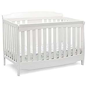 Delta Children Westminster 6-in-1 Convertible Baby Crib, Bianca White
