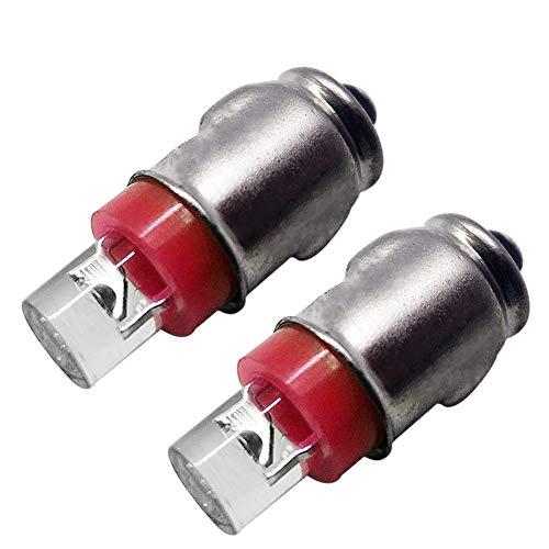 2 bombillas BA7S para salpicadero F3 1 LED 12 V CC 50 LM rojo Auto LED bombilla interior para salpicadero Indicador de luz Panel de instrumentos Lámpara Bombilla, Tierra Negativa