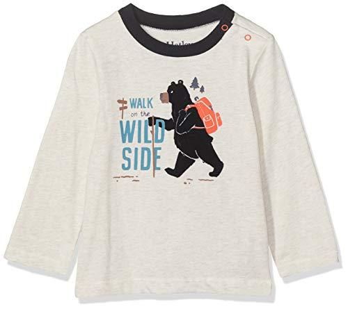 Hatley Long Sleeve Tee Maglietta a Manica Lunga, Bianco (Wild Walk 100), 18-24 Mesi (Taglia Produttore: 18M-24M) Bimbo