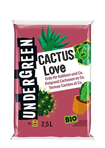 Undergreen by Compo Cactus Love, Erde für Kakteen und Co., Bio, Kultursubstrat, 2,5 Liter