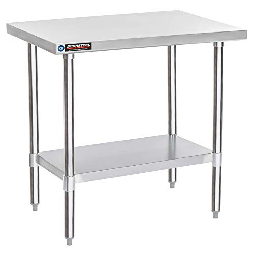 DuraSteel Stainless Steel Work Table 24 x 36 x 34 Height - Food Prep Commercial Grade Worktable - NSF Certified - Fits for use in Restaurant, Business, Warehouse, Home, Kitchen, Garage