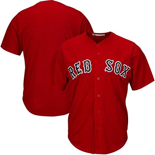 # 15 Pedroia Red Sox, Camiseta de béisbol Camiseta de Manga Corta de béisbol para Hombre Sudadera con Botones en la Parte Superior Real Jersey S-3XL-red-L