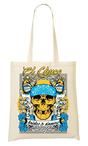 Chuco Brides & Sinners Joke & Funny Series Skull Bandana Mexicaanse stijl Gangsta draagtas boodschappentas