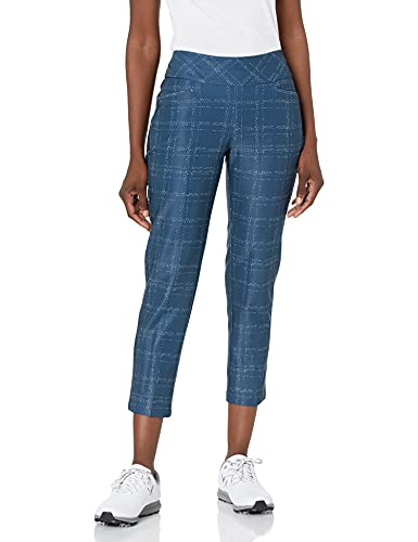 adidas Golf Women's Standard Ultimate365 Printed Primegreen Ankle Pant, Crew Navy/White, M