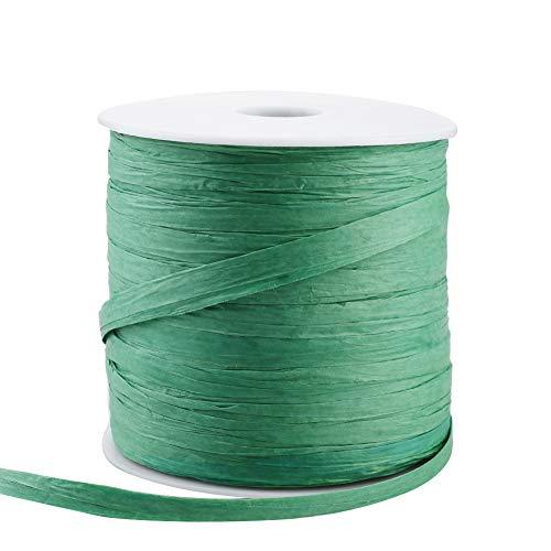Griselda Curme cachi verde decorazione fai da te Carta da regalo natalizia con nastro di rafia Lafite per regali di festa 229 yards