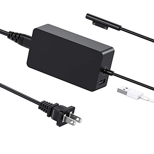Surface Pro Charger, WOSUK 44W 15V 2.58A Magnetic Replacement AC Adapter Surface Pro 3/4/5/6 Charger Adapter Power Supply Microsoft Surface Pro 3/4/5/6 Surface Go Surface Book & Surface Laptop
