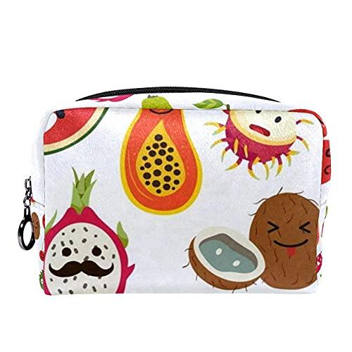 Bolsa cosmética compacta Bolsa de Maquillaje Monedero, Dibujos Animados de Fruta del dragón Durian