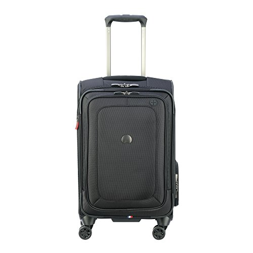 DELSEY Paris Cruise Lite Softside Carry-On Exp. Spinner Suiter Trolley, BLACK, One Size