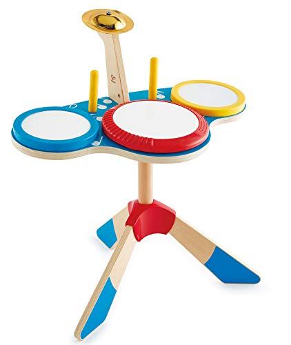 Hape E0613 Schlagzeug und Becken, Mehrfarbig