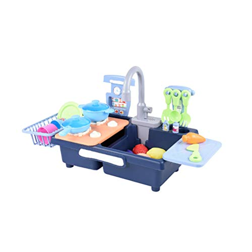 FUSTMS Juguetes de Cocina Fregadero Juguetes Lavavajillas Juguetes Utensilios de Cocina Eléctricos Vajilla Set Adecuado Para Niños Para Jugar Casa