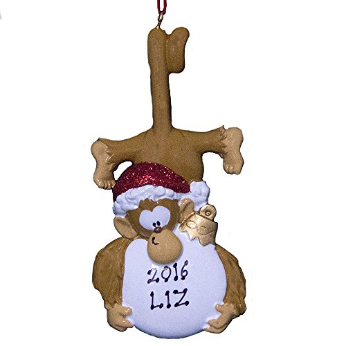 Rudolph and Me Personalized Monkey Christmas Ornament 2020