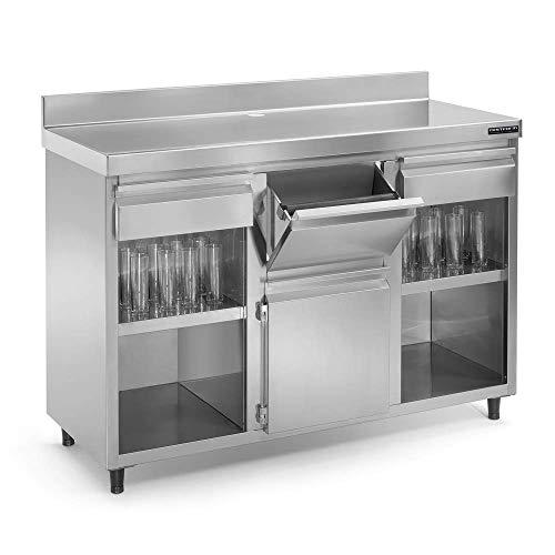 Mueble cafetero INOX - 2000 x 600 x 1050 mm - Maquinaria Bar Hostelería