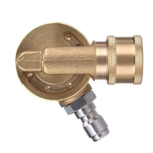 Pivotante acoplador Lavadora latón Conector con 1/4 pulgada rápida de conexión para limpieza en lugares de difícil Alcance amarillo excelente equipo maquinaria para la industria