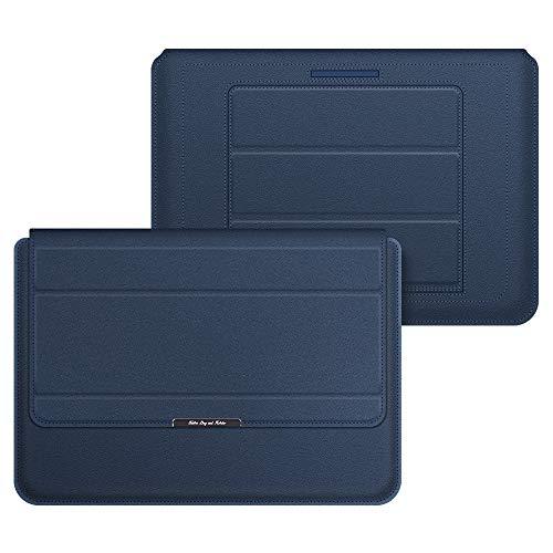 Capa protetora para laptop XWU, capa protetora fina de couro PU para laptop com suporte adequado para notebook HP Lenovo MacBook Air Pro Dell Samsung de 11 a 15 polegadas