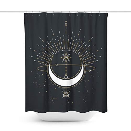 Mond Duschvorhang Crescent Moon Duschvorhang Moon Bath Vorhang Moon Curtain Moon Badezimmer Dcor Moon Shower Moon Bath Moon